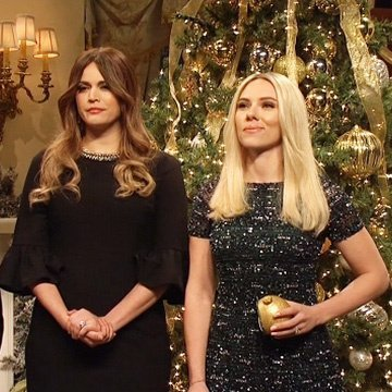 Alec Baldwin, Cecily Strong and Scarlett Johansson on 'Saturday Night Live'